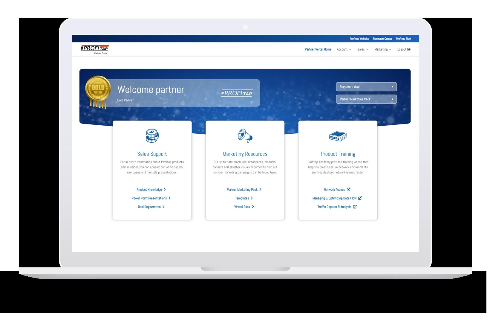 Profitap Partner Portal Screenshot