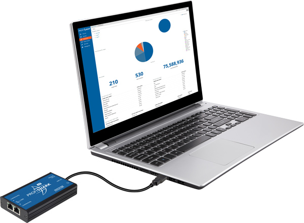ProfiShark 1G with a laptop